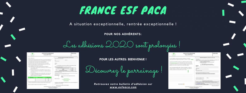 Baniere france esf paca bulletin d adhesion 2020 2021