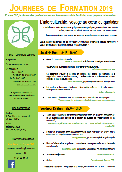 Journees de formation france esf 2019